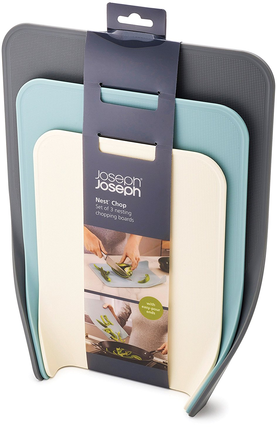 Joseph Joseph 60122 Nest Chop Set of Nesting Plastic Cutting Boards 1