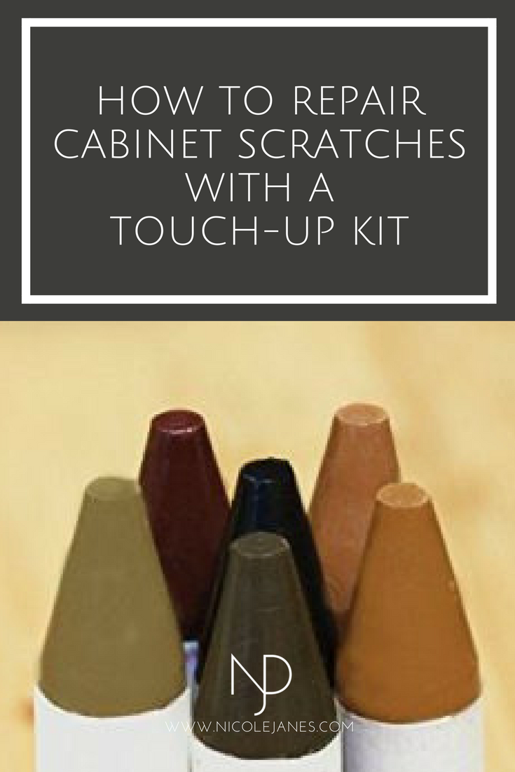 Nicole Janes Design How to Repair Cabinet Scratches with a Touch-Up Kit