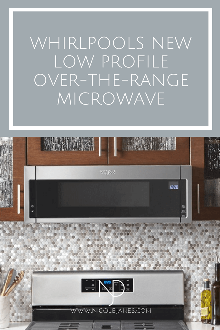 NJD Whirlpool Low Profile Over-the-Range Microwave