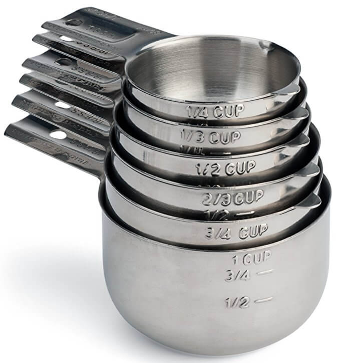 Hudson Essentials 6 pc Measuring Cup Set
