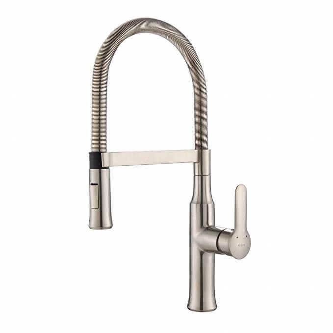 Kraus KPF-1640SS Nola Single Lever Flex Kitchen Faucet
