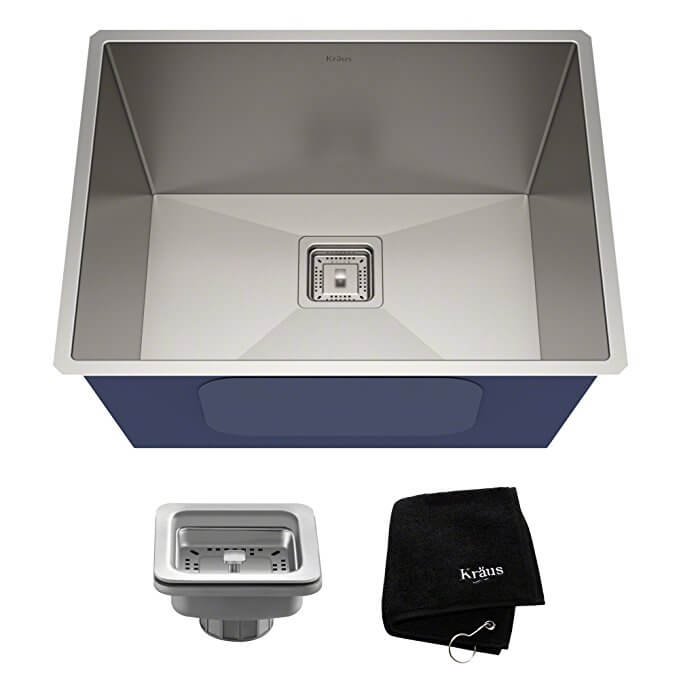 KRAUS Pax Undermount Single Bowl Stainless Steel Laundry and Utility Sink