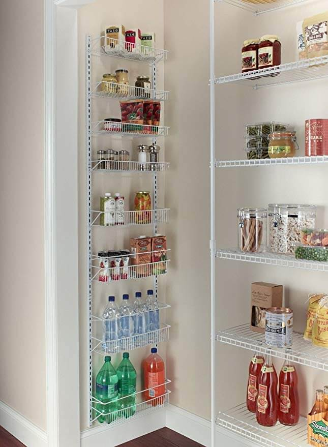 Over The Door Spice Rack Wall Mount Pantry Kitchen 8-Tier Cabinet Organizer
