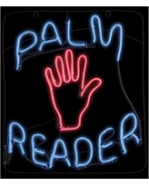 "23"" Halloween Palm Reader Glow Light Sign"