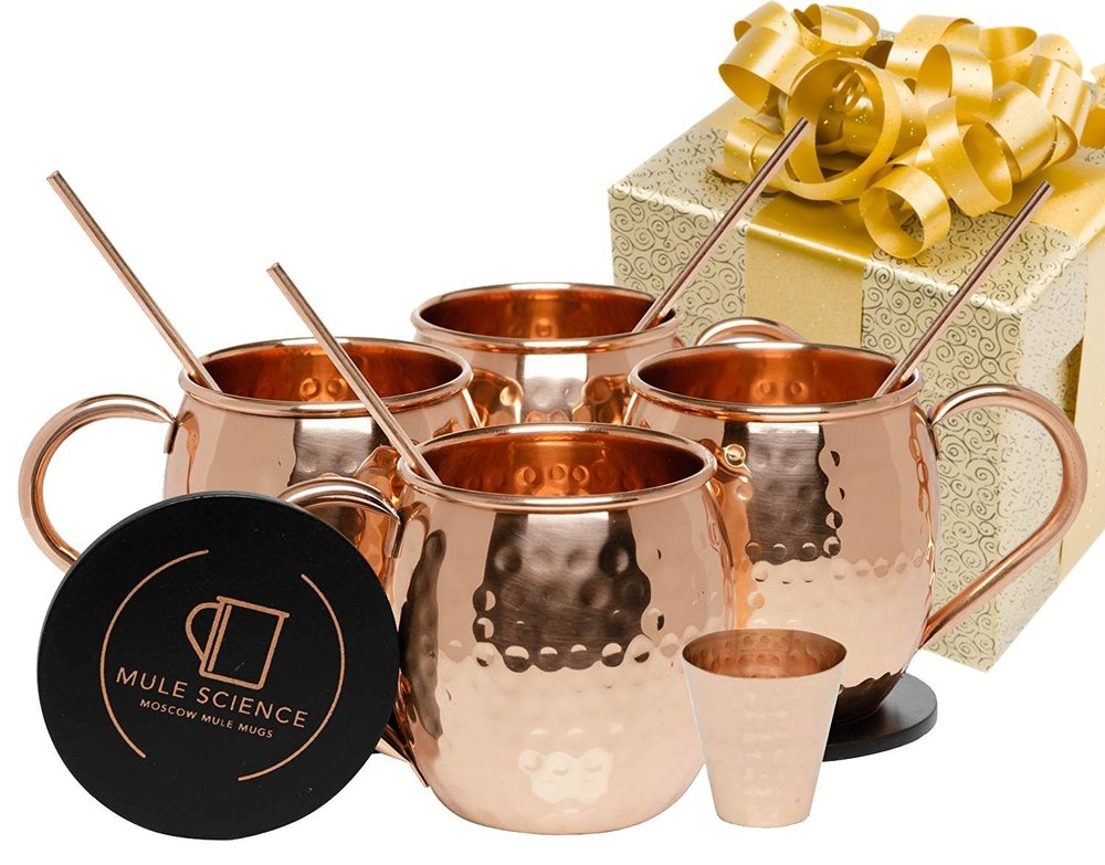 Moscow Mule Handmade Copper Mugs Set of 4