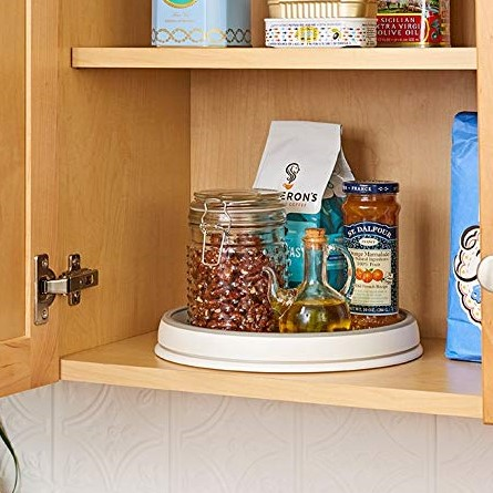 madesmart Classic 10 Turntable CLASSIC COLLECTION Kitchen Organizer Easy to Spin Soft grip Lining and Nonslip Base Easy to Clean  BPA Free Wall cabinet organizer organization Nicole Janes Design 2.jpg