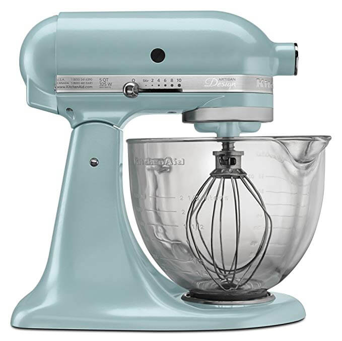 KitchenAid KSM155GBAZ 5-Qt. Artisan Design Series with Glass Bowl Azure Blue