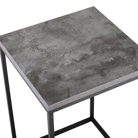 "Manor Park 16"" Modern Bohemian Urban Industrial Open Box Side Table - Dark Concrete"
