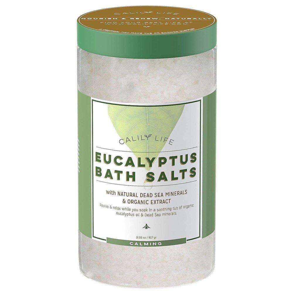 Calily Life Bath Salts Organic Dead Sea Salt with Eucalyptus