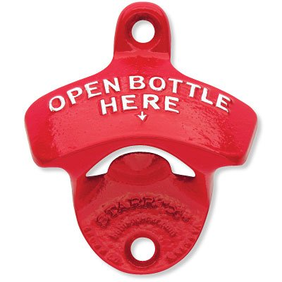 Red Bottle Opener Powder Coated