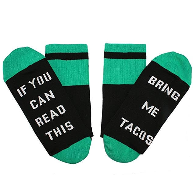 If You Can Read This Bring Me Tacos Novelty Socks