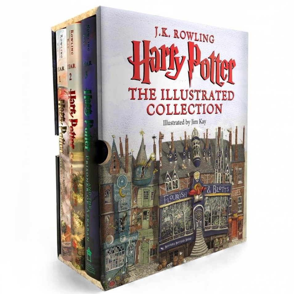 Harry Potter: The Illustrated Collection Books 1-3 Boxed Set Hardcover by J.K. Rowling