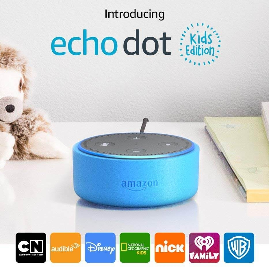 Amazon Echo Dot Kids Edition smart speaker with Alexa for kids