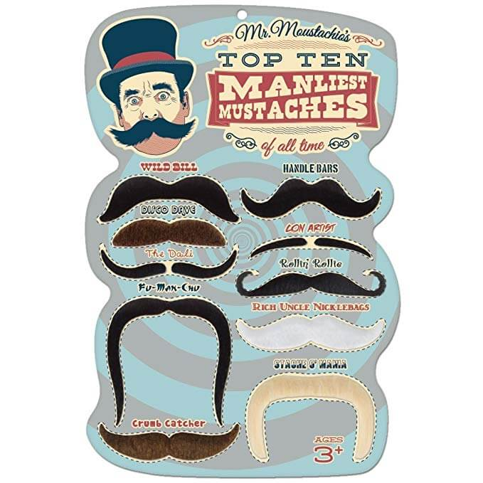 Mr. Moustachio's Top 10 Manliest Stick-on  Mustaches of All Time