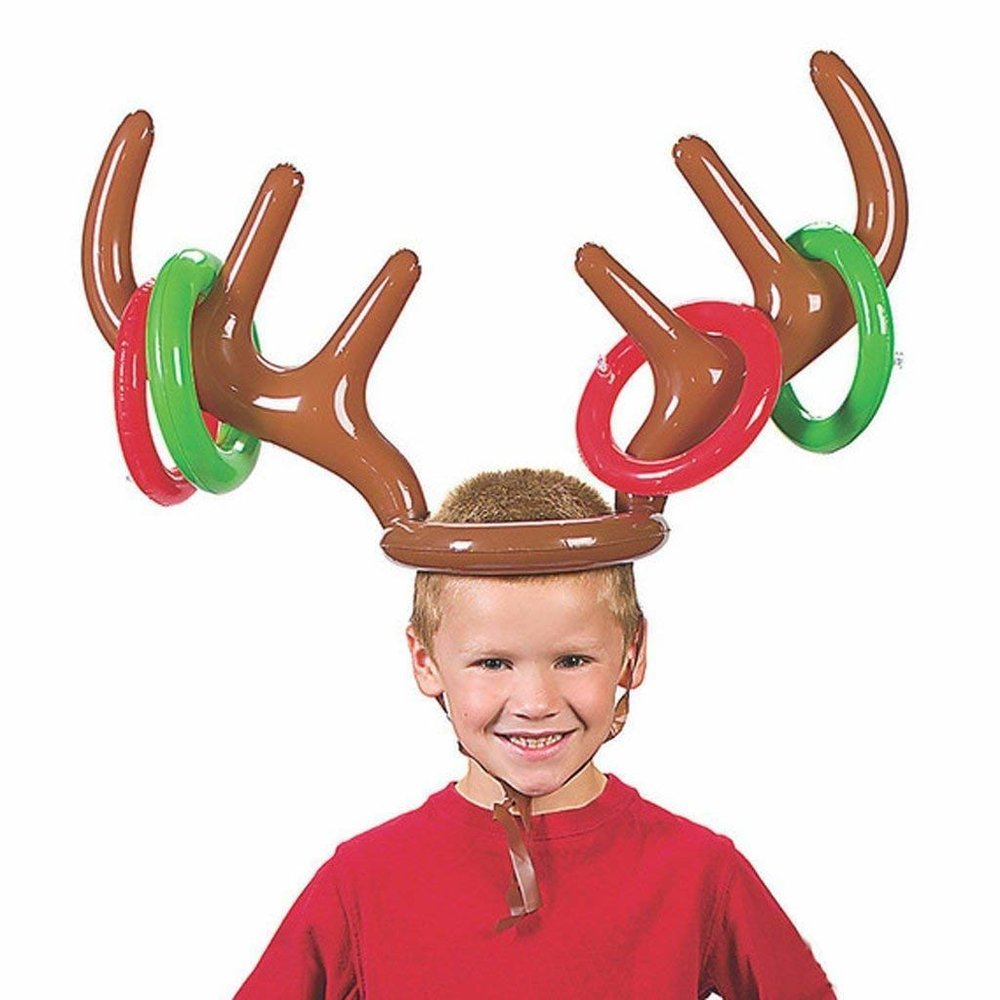 Inflatable Reindeer Antler Ring Toss Game Stocking Stuffer
