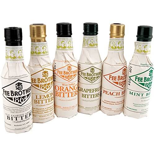 Fee Brothers Bar Cocktail Bitters Set of 6