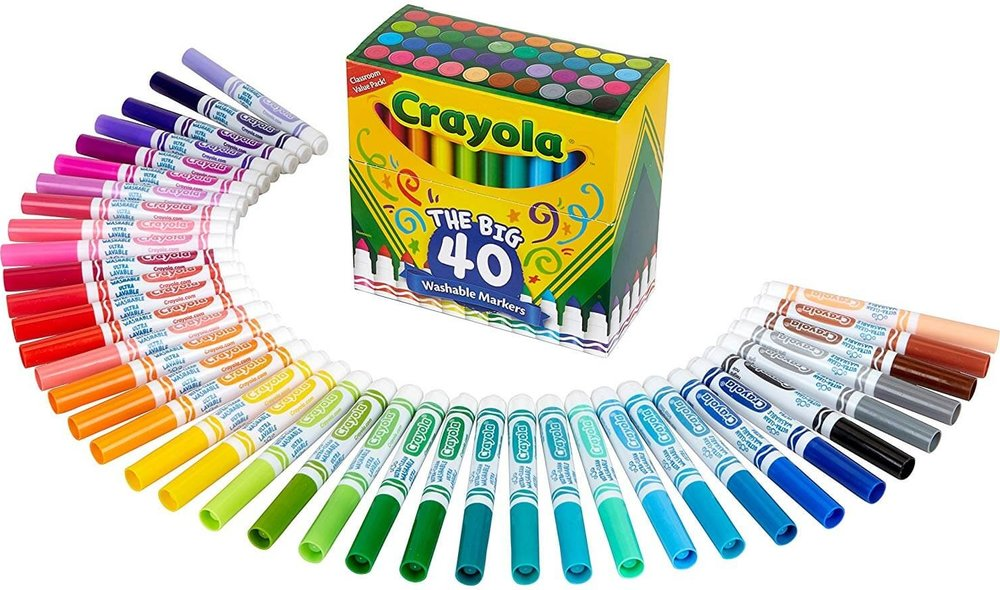 40 Classic Crayola Ultra-Clean Washable Broad Line Markers