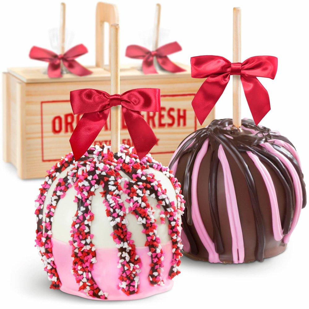 Milk and White Chocolate Covered Caramel Apples Gift Crate