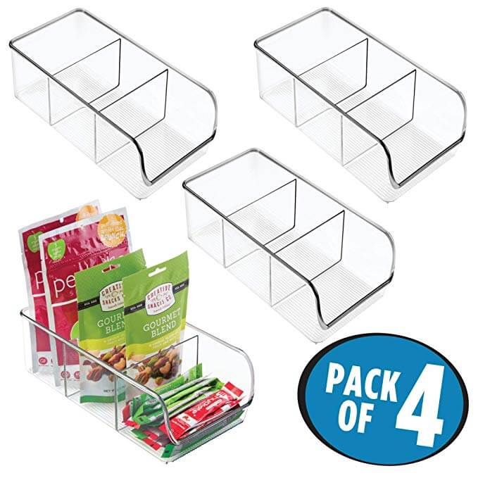 Stackable Plastic Food Packet Kitchen Storage Organizer Bin Caddy_Holds Spice Pouches, Dressing Mixes, Hot Chocolate, Tea, Sugar Packets in Pantry, Cabinets or Countertop 4 Pack Clear Home & Kitchen Nicole Jane (2).jpg