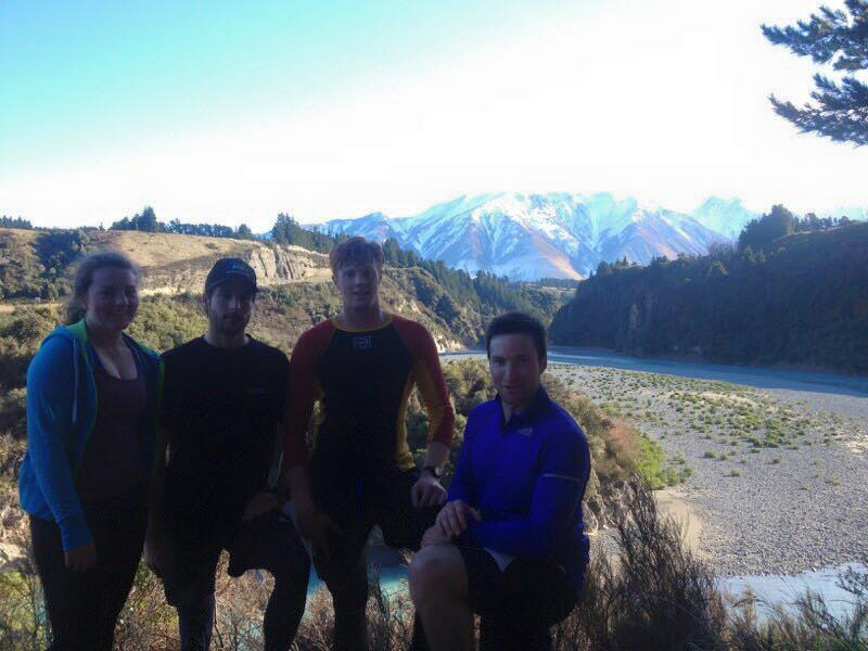 Post-run at Rakaia Gorge - Me, Adam Barwood, Nick Prebble and Willis Feasey (left to right)