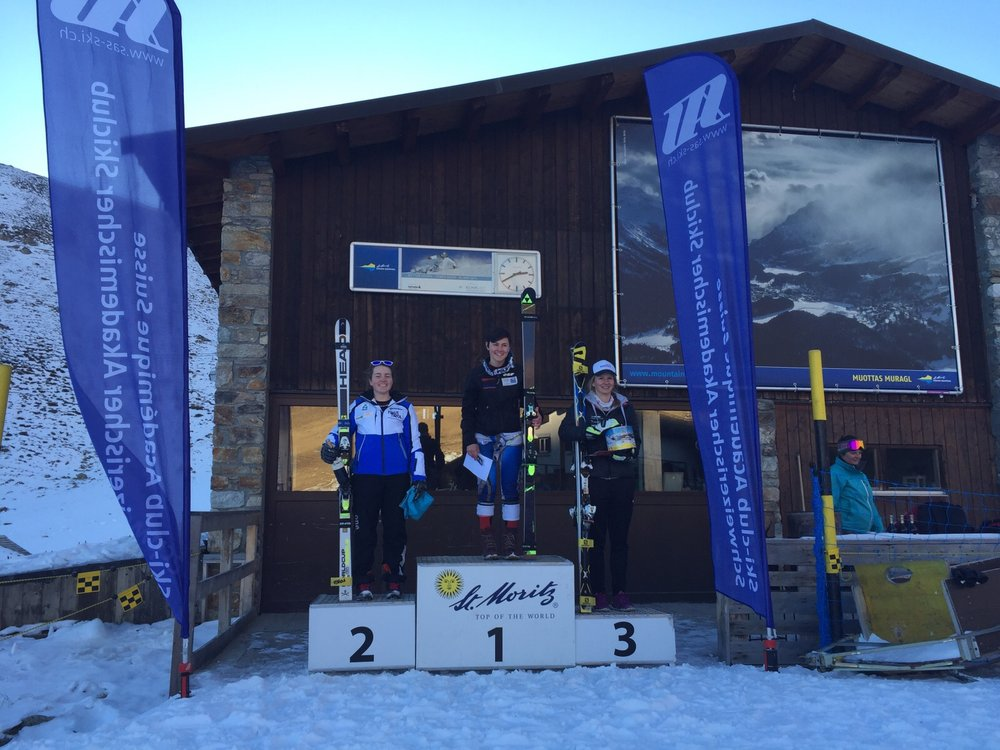 A podium, PB, bottle of wine and an ice breaker nz jersey... thanks St. Moritz!!