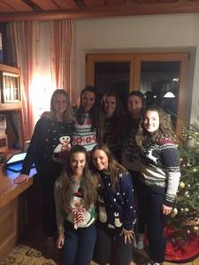 Christmas jumpers in force at our Ambition Christmas dinner