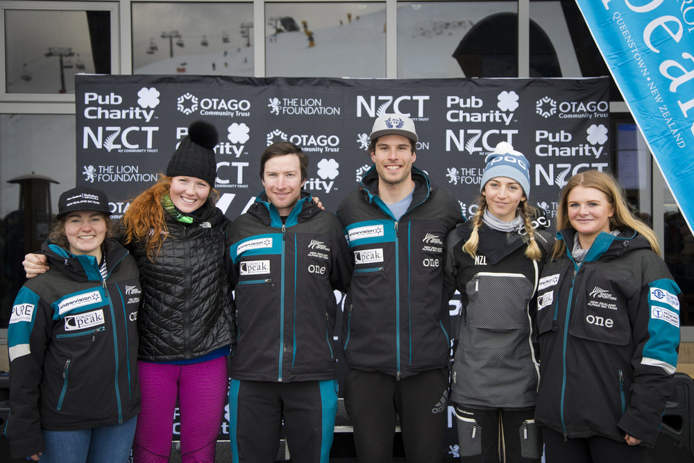 NZ National team 2017. Photo by Stash Media Worx. (L-R Eliza Grigg, Georgia Willinger, Willis Feasey, Adam Barwood, Piera Hudson and Alice Robinson. Absent: Colbey Derwin and Ben Richards.)
