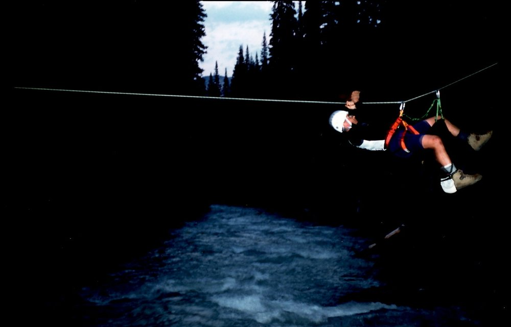 Eco-Challenge 1996 British Columbia, Tyrolean Traverse