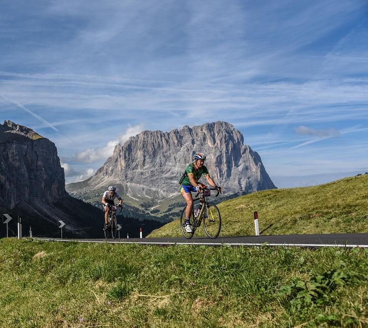 Riders in the Dolomites, courtesy Haute Route/OC Sport
