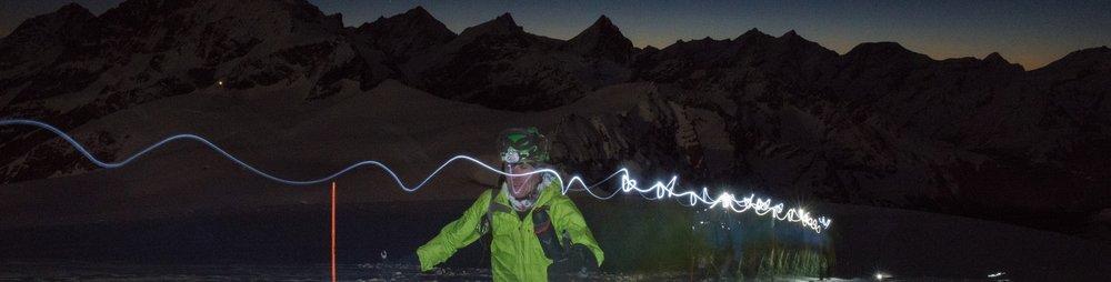 skier Patrouille des Glaciers overnight