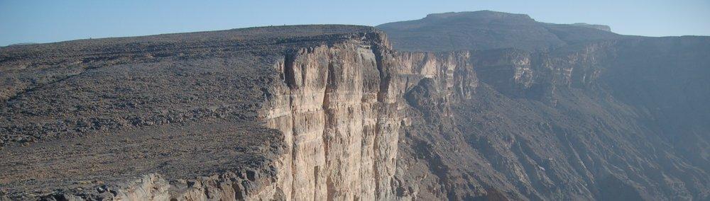 a cliff, Jebel Akhdar, Oman