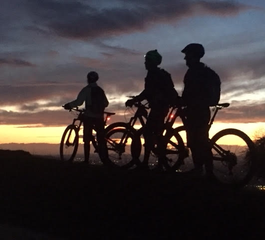 Into night and beyond, Team RAF 100 mtb training
