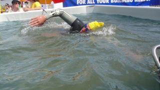 Dean on his 36-hour swim