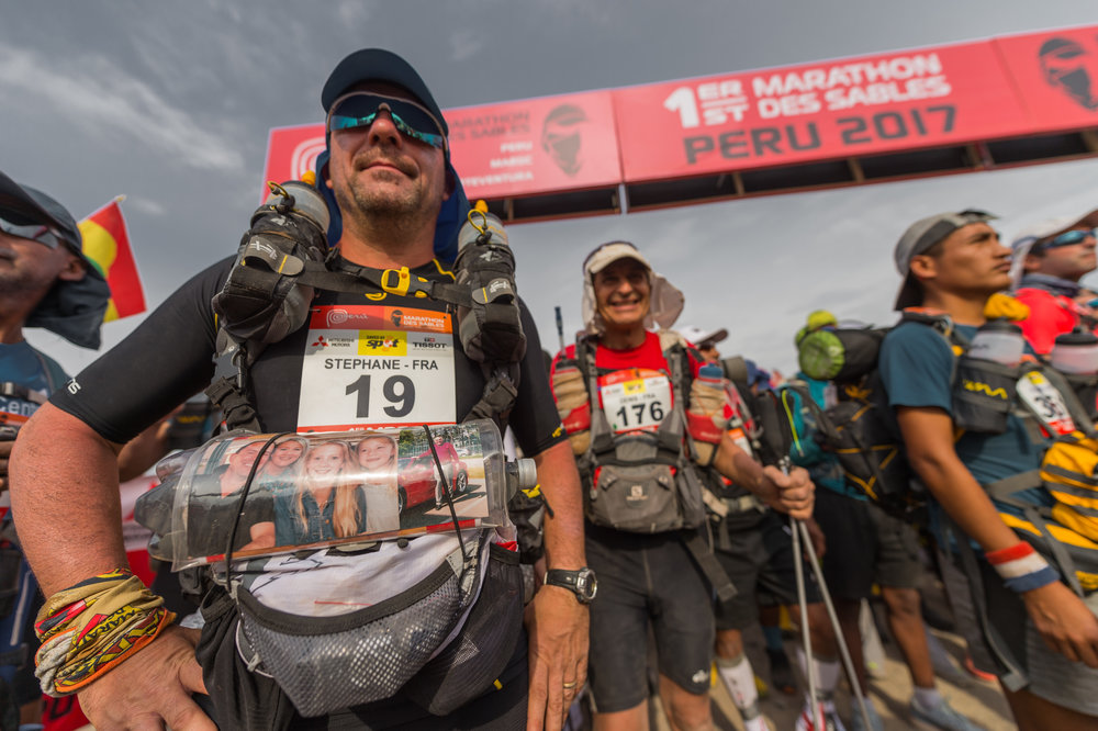 At the start, Day 2, Paolo Avila, Marathon des Sables