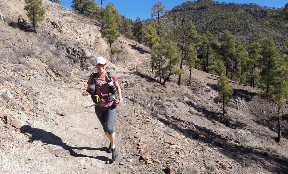 Chloe Baker training in Gran Canaria
