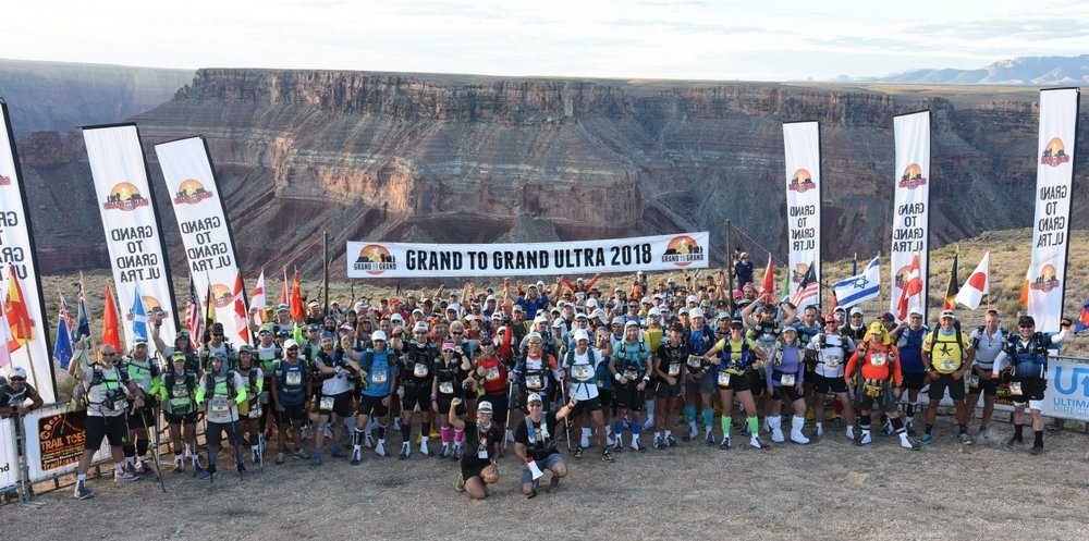 At the start on the lip of the Grand Canyon, photo courtesy Grand to Grand Ultra