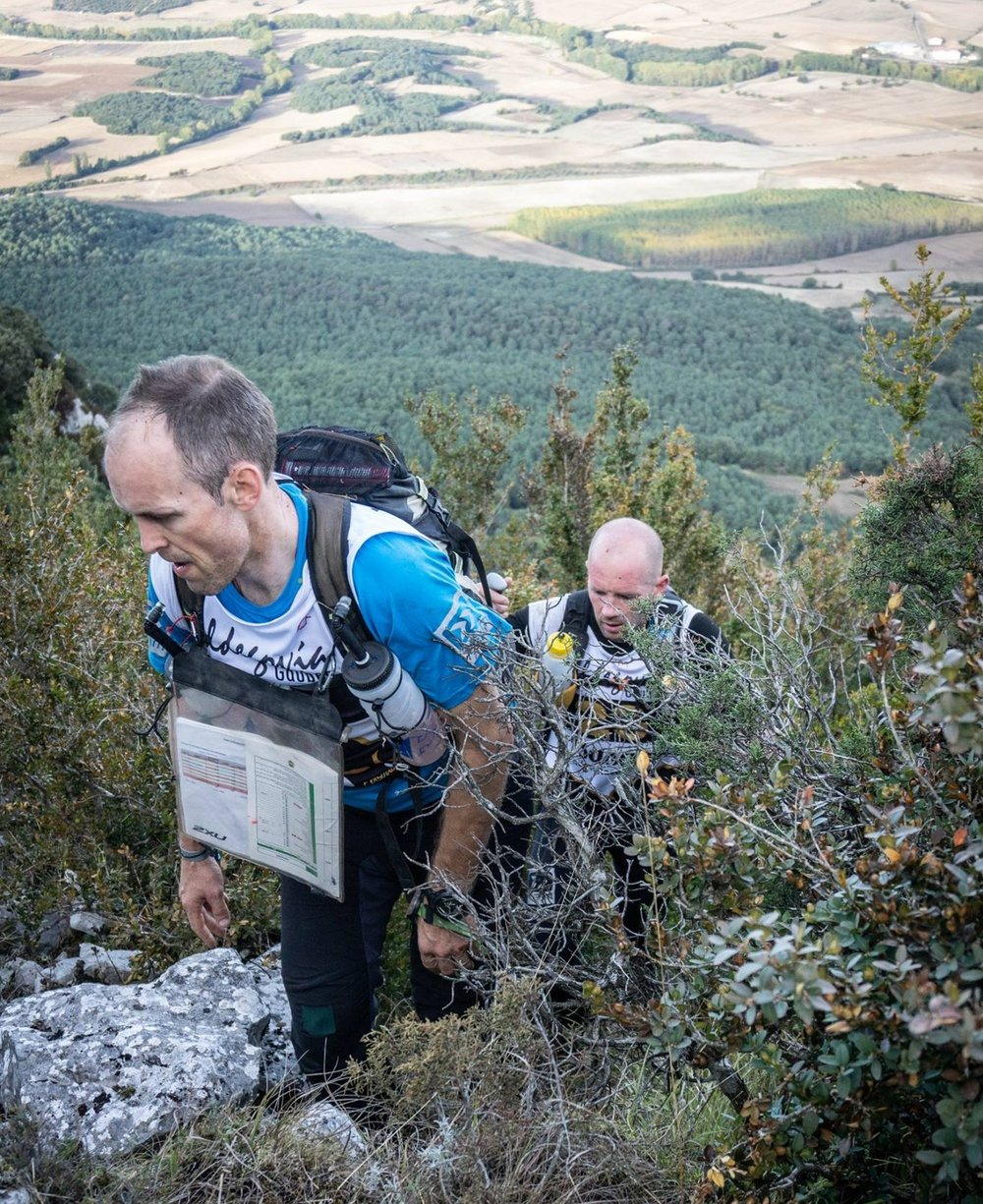The hard yards - Gary and Tom on the Leg 1 climb, c Basque Expedition Race