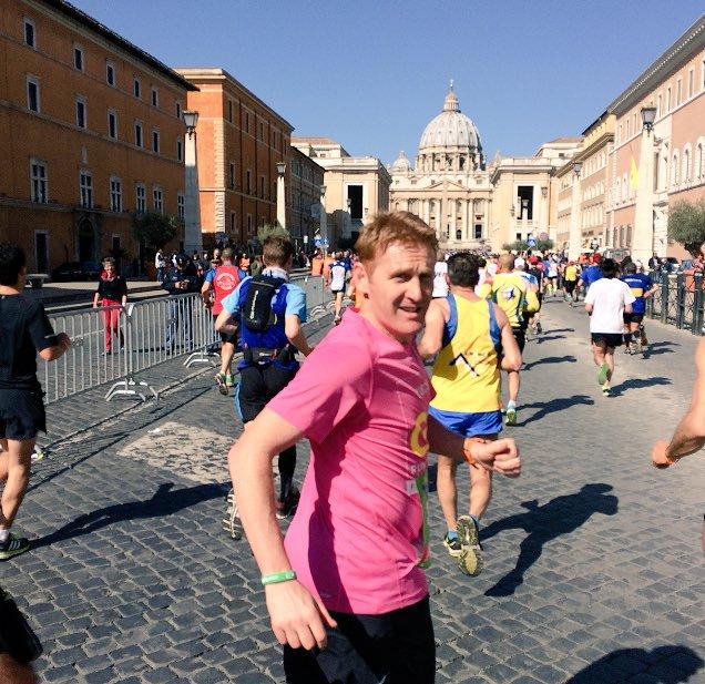 John Mayock in the Rome Marathon