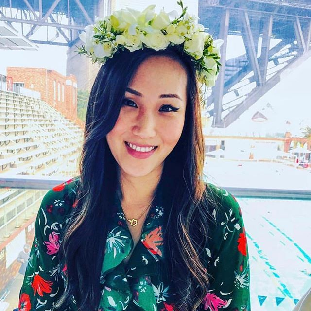 One of our crowns in action 😍 #freshflowers #flowercrown #love #flowersatkirribilli