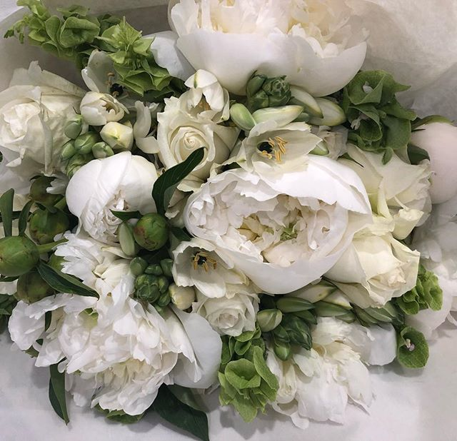 White and fluffy #flowersatkirribilli #florist #love #peonies #freshflowers