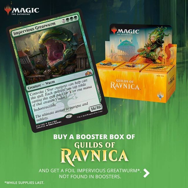The Guilds of Ravnica is upon us.  We're accepting preorders for Guilds of Ravnica Booster Boxes. Prepay and get it for 495 aed for a box, 485 each for 2 boxes, and 475 each for 4 boxes! (Limit of 4 boxes per person on prerelease weekend, preorders can be used for claiming boxes on official release date) #MTG #MagicTheGathering #mtgtcg #MTGGRN