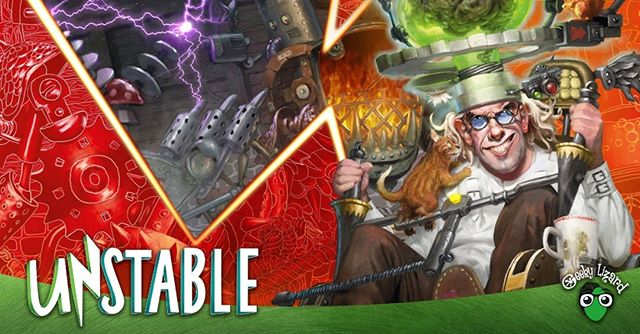 It's time to draft a set that's painful and playful! On Friday night, let's play some Unstable!  Ever tried to make your own monstrous abomination or contraption in MTG? Well in UNSTABLE, you can! Join the UNSTABLE Draft this Friday!  Entry: 60 Aed (3 Packs)  Players will draft three packs, construct their deck on the spot, and play in a swiss style tournament.  Prize pool will scale depending on player count.