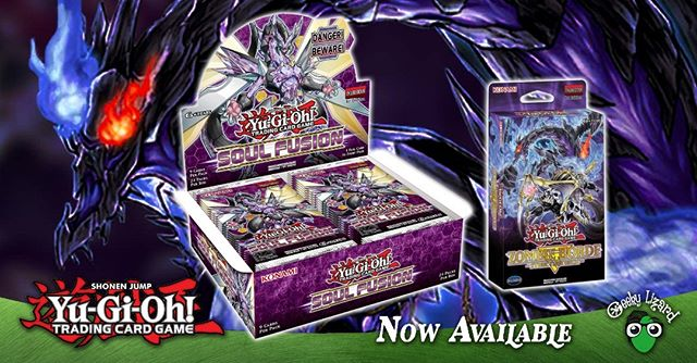 A fusion of souls and an army of the dead comes knocking at your door! Soul Fusion Booster Boxes and the Zombie Horde Structure decks are now available at Geeky Lizard!  #yugioh #ygotcg #yugiohuae #soulfusion #ygo