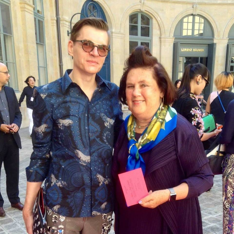 with Suzy Menkes