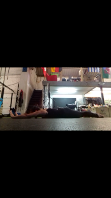 It doesn't have to be a handstand to be a handstand.