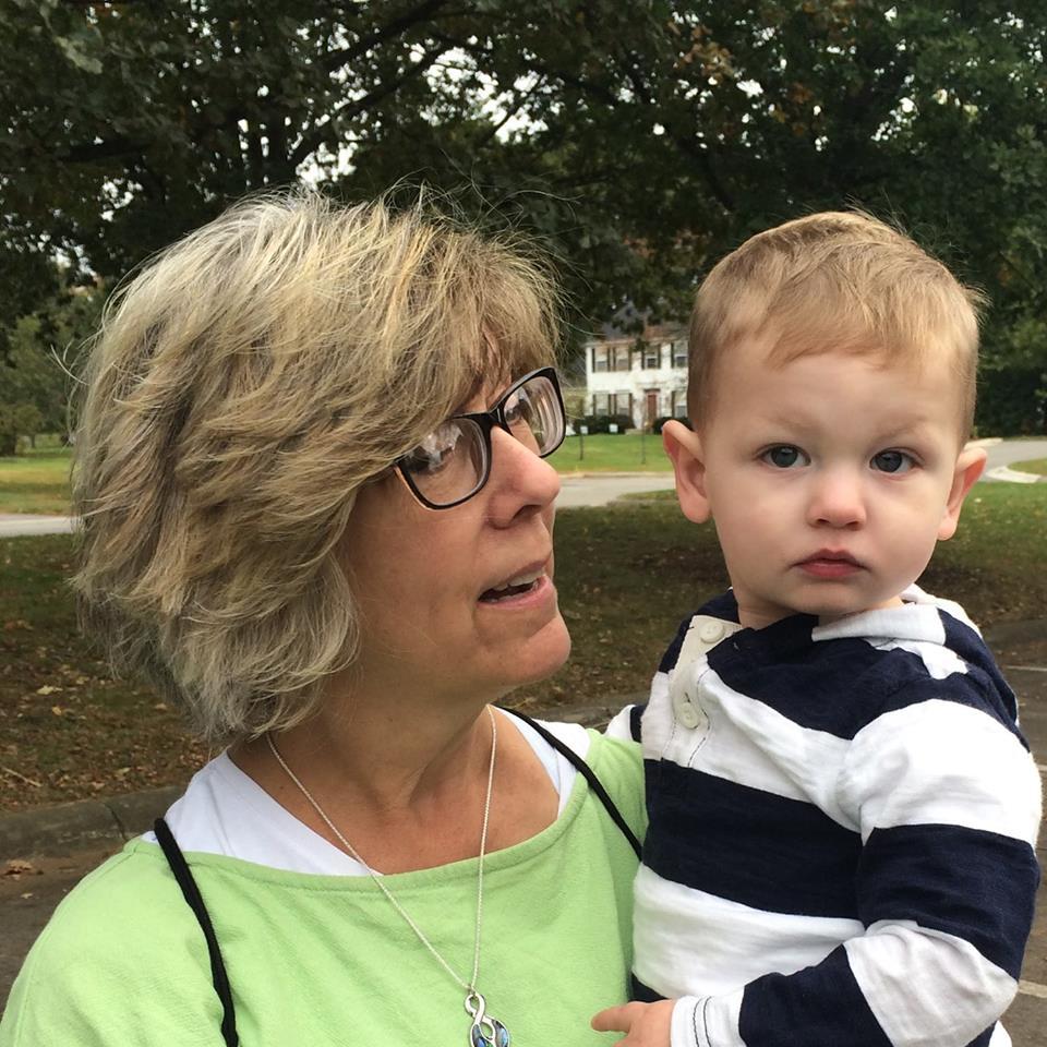 Ann and her grandson, Landon. -