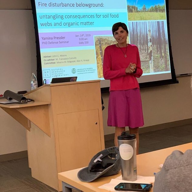 Defending my dissertation in the Graduate Degree Program in Ecology in January 2019.