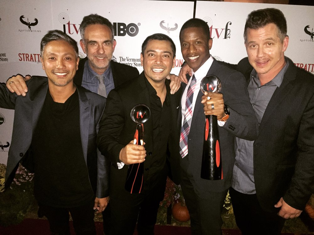 Producer Alain Uy, Co-Creator/Writer Nick Mouyiaris, Director/Writer Matt Ferrucci, Actor Ray Stoney, Actor Michael Marc Friedman