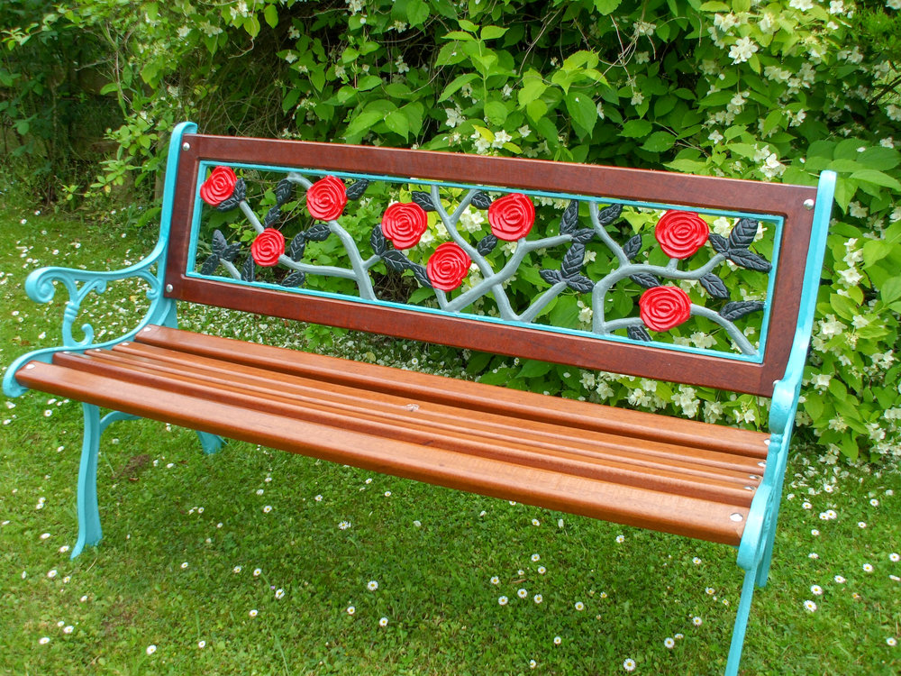 Multi-Rose Two Seat Bench - go to   Gallery   for larger photos