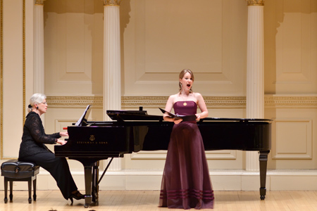- Finals Concert, OSNY Solo Competition 2013Carnegie Hall's Weill Recital Hall(©2013 Tim Dwight)